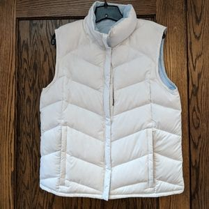 Columbia reversable vest, L , white/ blue